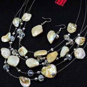 Designer natural gem set